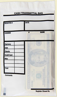 Cash transmittal bags