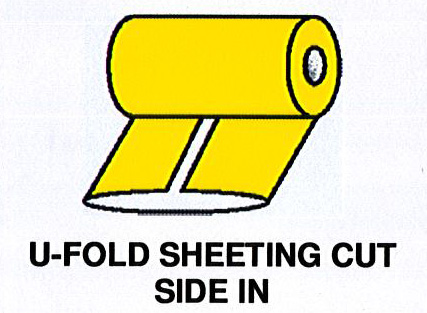 U-Fold Sheeting Cut Side In