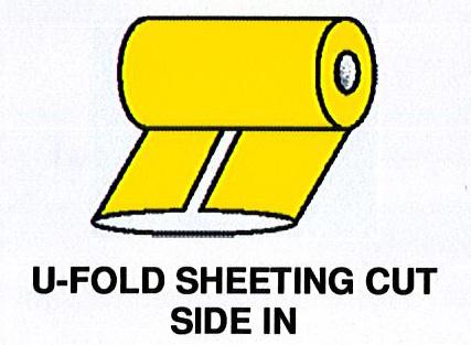 U-Fold Sheeting Cut Side In