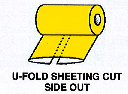 U-Fold Sheeting Cut Side Out
