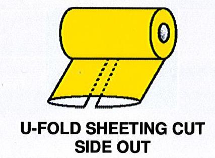 U-Fold Sheeting Cut Side Out
