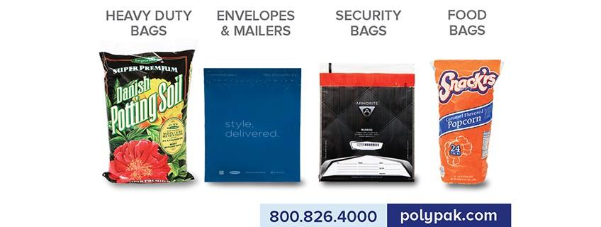 PolyPak Bags, Envelopes & Mailers