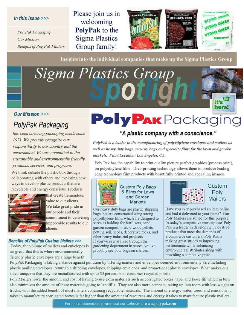 Polypak Packaging and Sigma Plastics Group